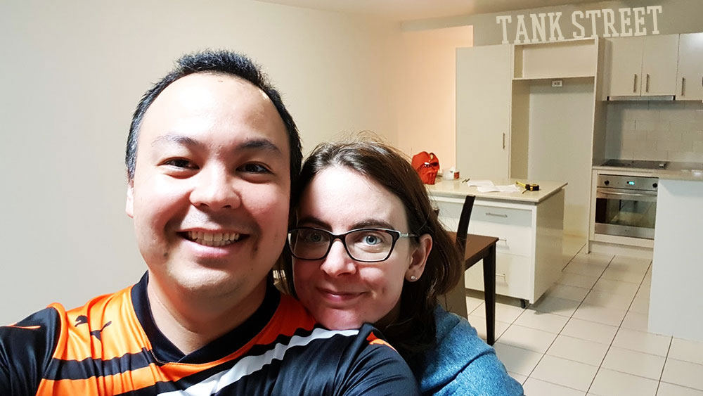 We bought a house! Which meant that after nine years we finally moved out of our apartment in Tank Street. We had a lot of happy times there.