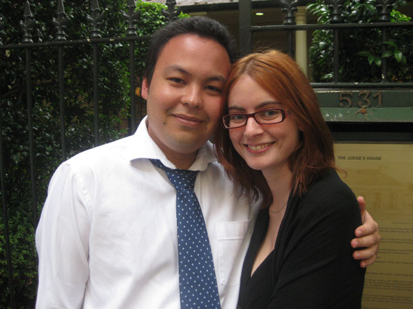 Me and my beautiful wife Jen outside of Tetsuya's