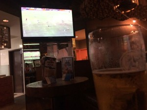 The Boomerang Bar, Singapore - Nothing like drinking $11 pints for the privelege of watching your team play like complete rubbish