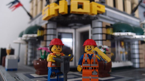 Construction workers.  The guy on the left is the main character in the movie