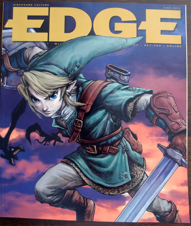 Edge #150 [June 2005] - The 'Gamecube's Awakening' has gorgeous coverage art with no text.  I love Edge's minimalist cover art at the time and am sad to see it go