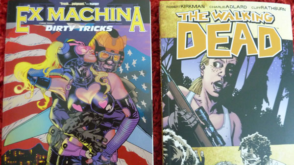 Ex Machine Vol 8 and The Walking Dead Vol 11 - I'm also digging these two comic book series in a big way. Happily, it looks like The Walking Dead tv series is picking up momentum and should be on our screens soon. I want to write a bit more about both series when I find some time soon.