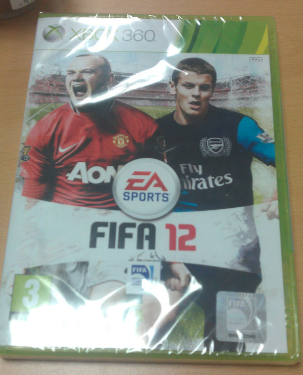 FIFA 12: The cover of FIFA 12 continues to document Wayne Rooney's receeding hairline as it has done so for the past five years