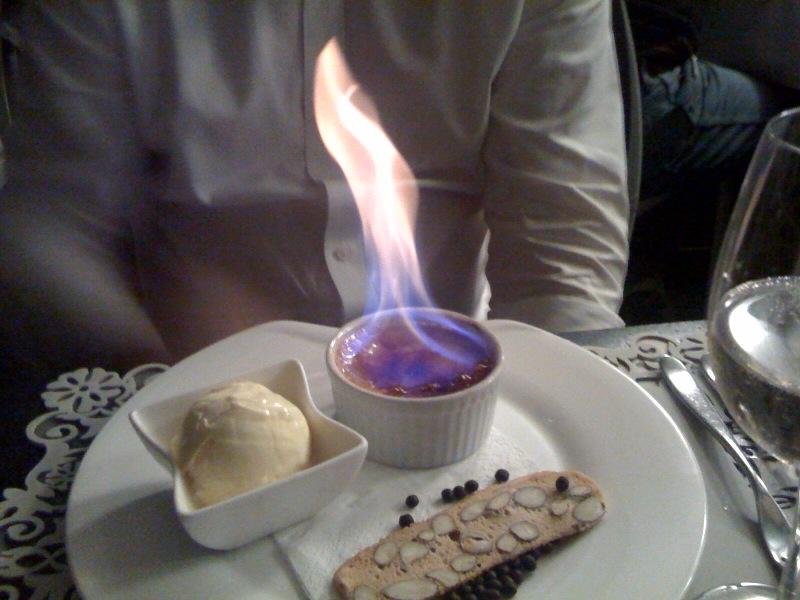 Espresso, chicory crème brûlée, biscotti, double cream ice-cream