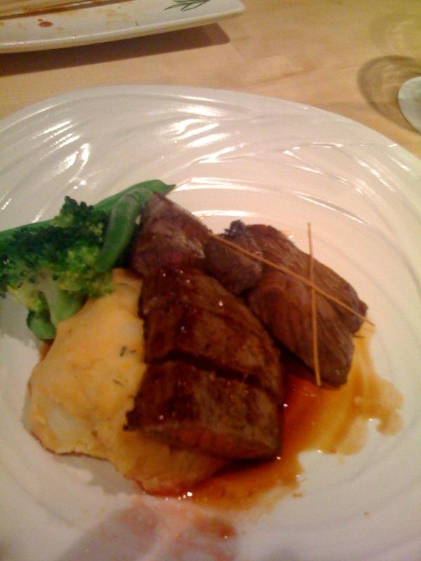 Wagyu beef and mash