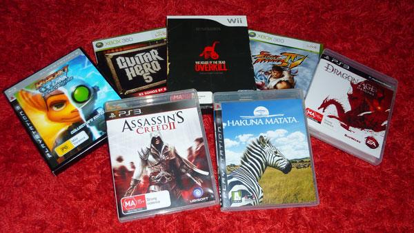 A crapload of video games