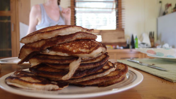 Jen's delicious apple pancakes for breakfast