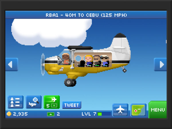 You can customize the paintjob on your planes and give them names.  Most of my planes are modelled on the Royal Brunei Airlines fleet.