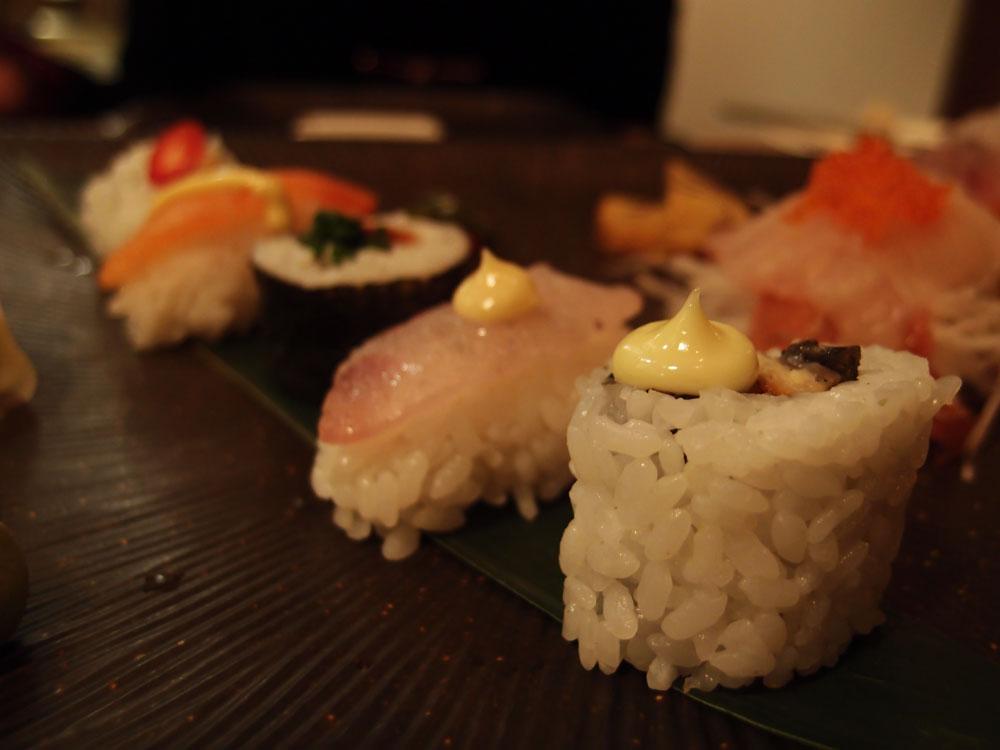 Sashimi and sushi platter