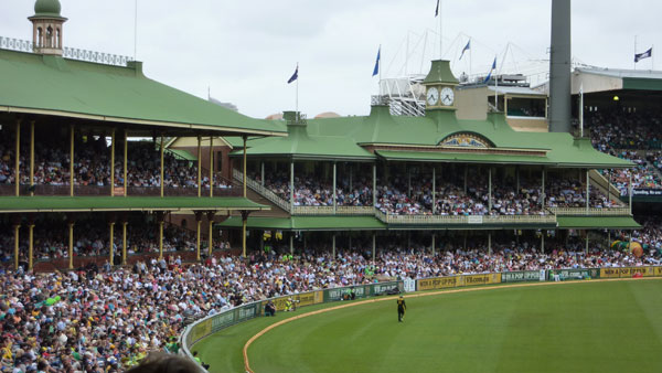 The Sydney Cricket Ground - over 120 years old and full of character. They still have the Members and Ladies stand from the original stadium.