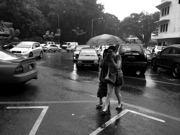 Malaysia, mum and monsoon rain