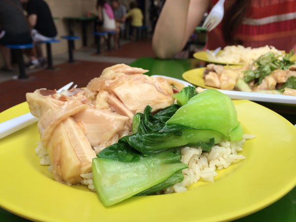 The famous Tian Tian chicken rice