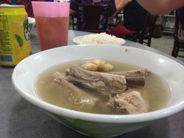 Pork broth in suburban Singapore