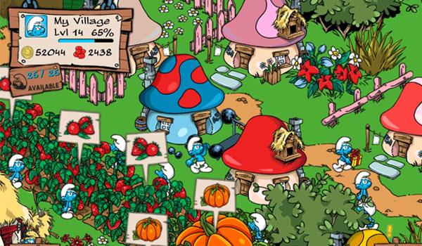 Smurfs Village - a freemium iOS game