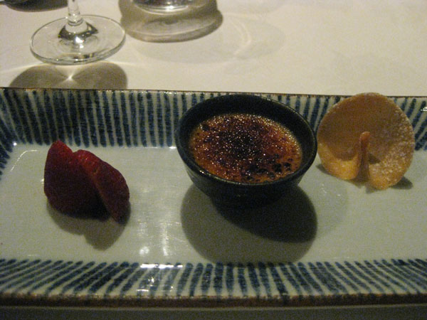 Strawberries and a pudding thing which I forget what was in it