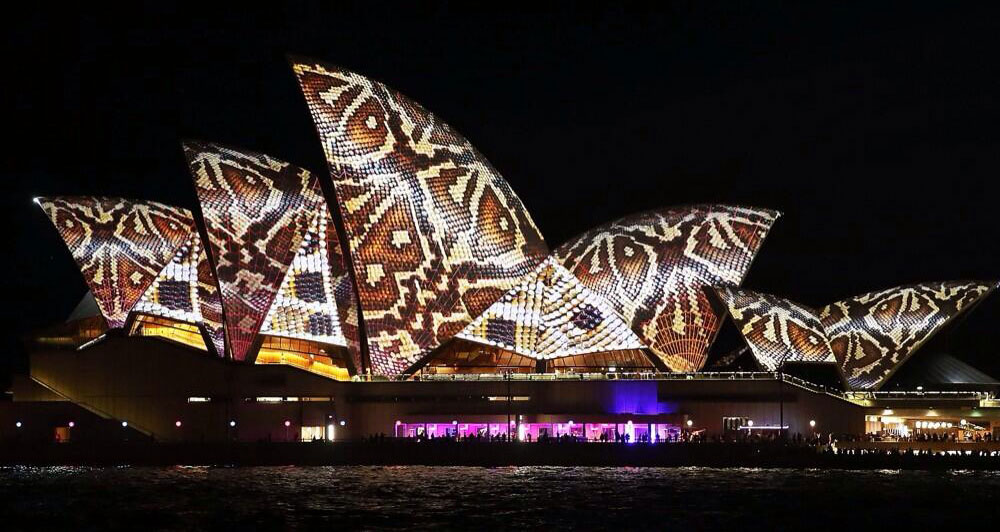Vivid Festival lights up the Sydney harbour in spectacular fashion including a huge light projection on to the sails of the Sydney Opera House.